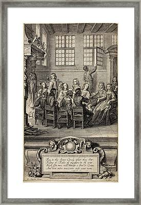 17th Century Manuscript Front Page Framed Print by British Library