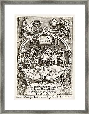 17th Century Mathematics Manuscript Framed Print by The Lionel Pincus And Princess Firyal Map Division /new York Public Library