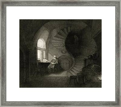 17th Century Philosopher, Artwork Framed Print by Science Photo Library