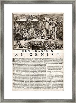 17th Century Political Satire, Artwork Framed Print