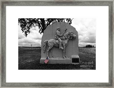 17th Pennsylvania Cavalry Monument Gettysburg Framed Print