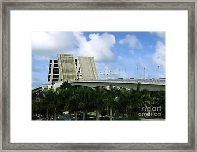 17th Street Causeway Drawbridge Fort Lauderdale Florida Framed Print by Amy Cicconi