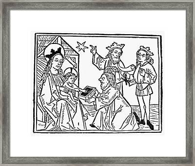 Adoration Of The Magi Framed Print