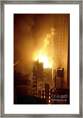 18 Alarm Hotel St George Fire Framed Print