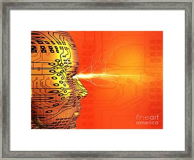 Artificial Intelligence Framed Print by Mehau Kulyk