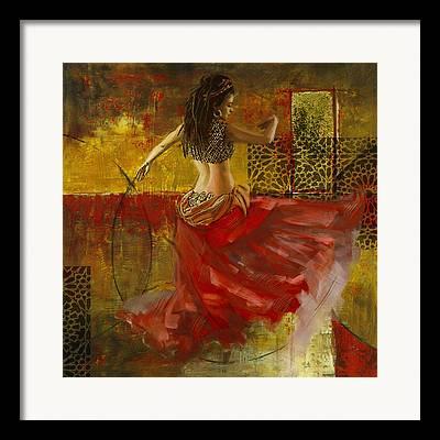 Moroccan Dancer Framed Prints