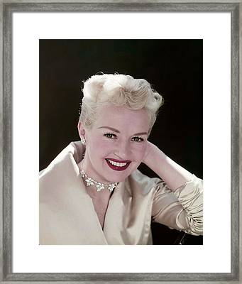 Betty Grable Framed Print