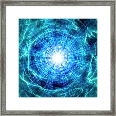 Blue Abstract Patterns Framed Print