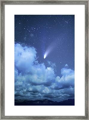 Comet Hale-bopp Framed Print by Detlev Van Ravenswaay