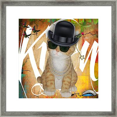 Cat Got The Mouse Framed Print by Marvin Blaine