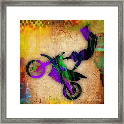 Dirt Bike Framed Print by Marvin Blaine