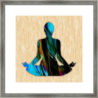 Fitness Yoga Framed Print by Marvin Blaine