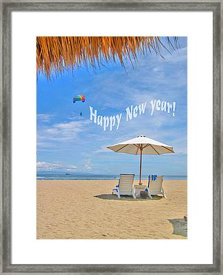 Happy New Year Framed Print by Andy Za