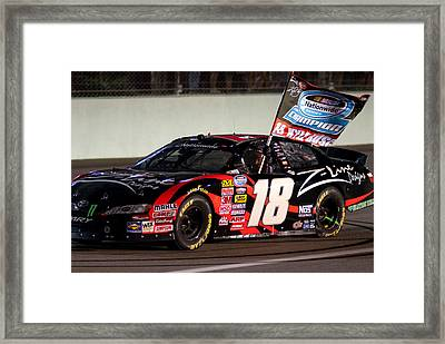 18 Kyle Busch Framed Print by Kevin Cable