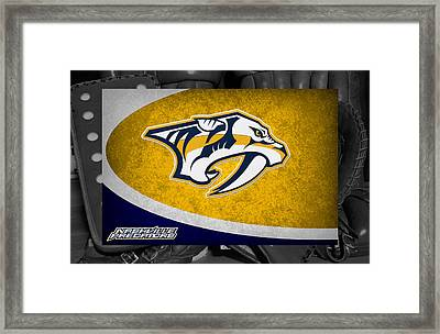 Nashville Predators Framed Print by Joe Hamilton