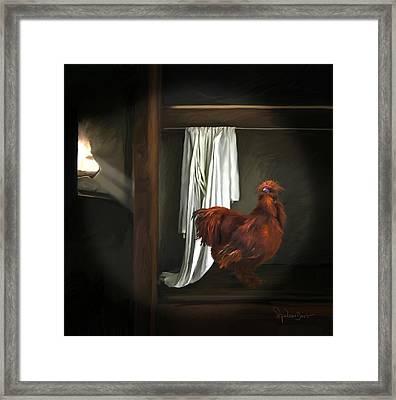 18. Red Rooster Framed Print