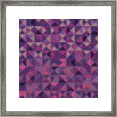 Framed Print featuring the digital art Retro Pixel Art by Mike Taylor