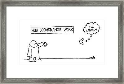 How Boomerangs Work Framed Print by Ariel Molvig