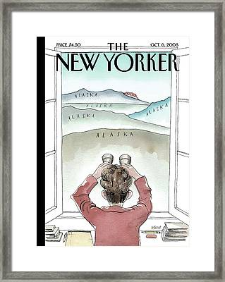 New Yorker October 6th, 2008 Framed Print by Barry Blitt