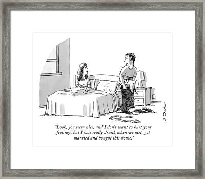 Look, You Seem Nice, And I Don't Want To Hurt Framed Print by Joe Dator