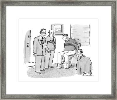 New Yorker January 19th, 2009 Framed Print by Leo Cullum