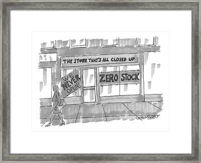 New Yorker February 9th, 2009 Framed Print