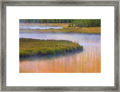 Usa, Wyoming, Yellowstone National Park Framed Print by Jaynes Gallery