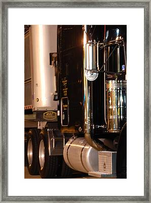 Framed Print featuring the photograph 18 Wheeler 02 by Ramona Whiteaker