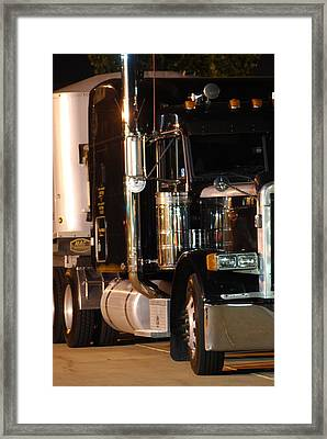 Framed Print featuring the photograph 18 Wheeler by Ramona Whiteaker