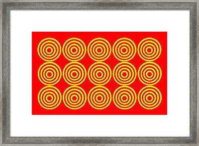 180 Circles Framed Print by Asbjorn Lonvig