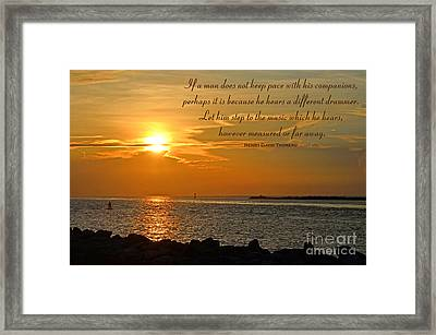 180- Henry David Thoreau Framed Print by Joseph Keane