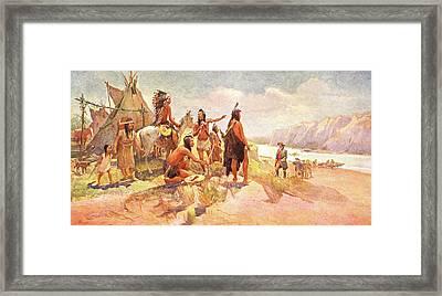 1800s 1802 To 1806 Scene Lewis & Clark Framed Print