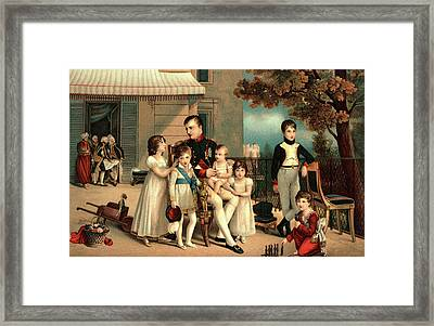 1800s 1810 Portrait Of Napoleon Framed Print