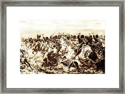 1800s 1850s 1854 Charge For The 600 Framed Print