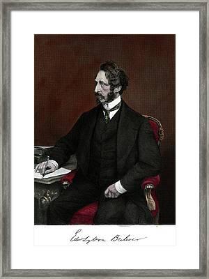 1800s 1860 Portrait Edward Bulwer Framed Print