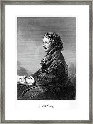 1800s 1860s Author And Abolitionist Framed Print