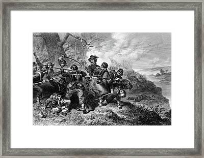 1800s 1860s Battle Of Balls Bluff Framed Print