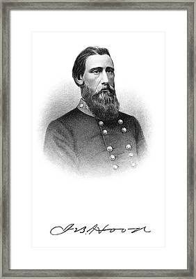 1800s 1860s Portrait Confederate Framed Print