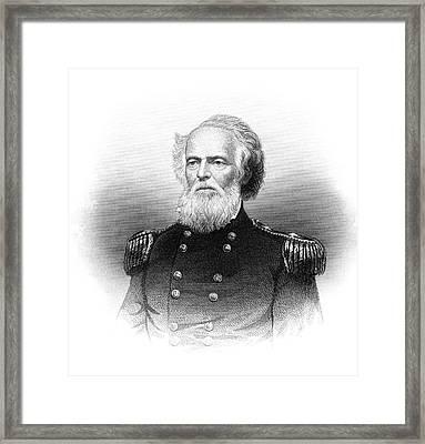 1800s 1860s Portrait Joseph K Mansfield Framed Print