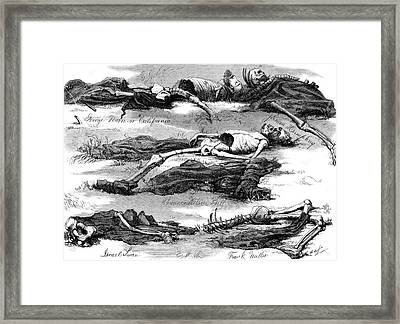 1800s 1874 Drawing Bodies Men Murdered Framed Print