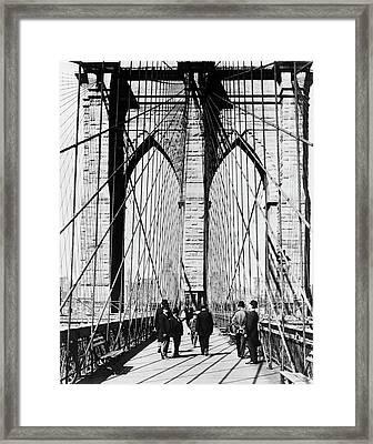 1800s 1880s Men Standing On Brooklyn Framed Print