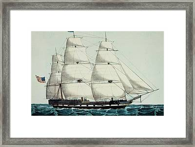 1800s 19th Century American Clipper Framed Print