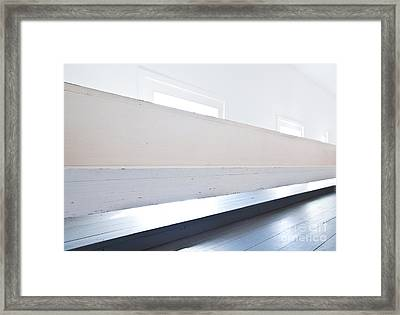 1800s Church In White And Grey Framed Print