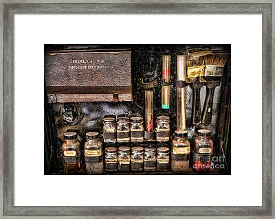 1800's Fingerprint Kit II Framed Print