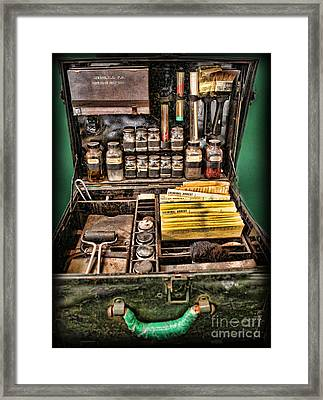 1800's Fingerprint Kit Framed Print