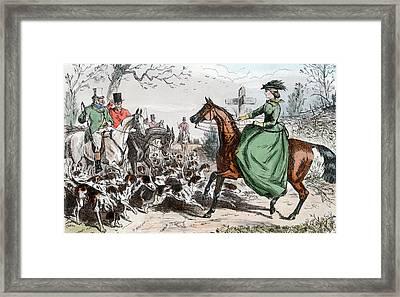 1800s Miss De Glancey Captivates Framed Print