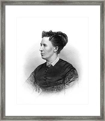 1800s Portrait Of Mrs. Ulysses S Grant Framed Print