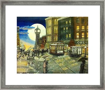 1800s Street Scene Painting Framed Print by Larry E Lamb