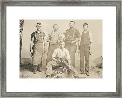 1800's Vintage Photo Of Blacksmiths Framed Print