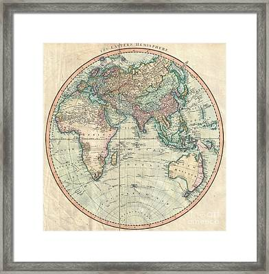 1801 Cary Map Of The Eastern Hemisphere  Framed Print by Paul Fearn